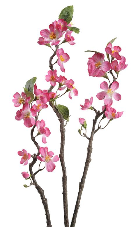 pink apple blossom branch 90cm flowers