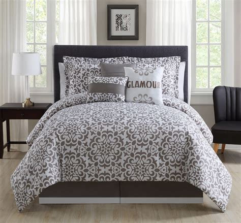 white bed in a bag 11 piece glamour taupe white bed in a bag set