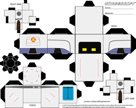 Wall E Papercraft - cubeecraft flat by dianesdream on deviantart