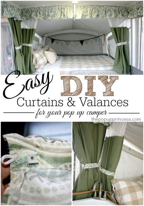 tent trailer curtains pop up cer remodel the curtains valances part 2