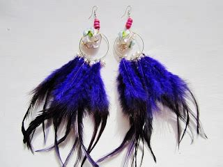 Anting White Feather Ke14994 world style feather earrings fashion