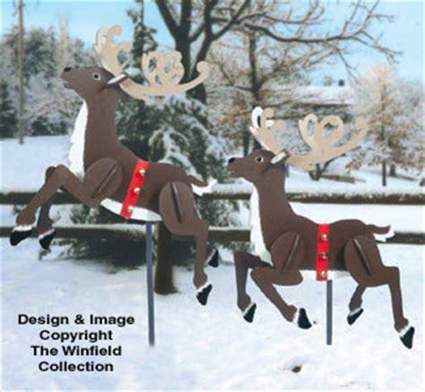 reindeer sleighs prancing reindeer woodcraft pattern