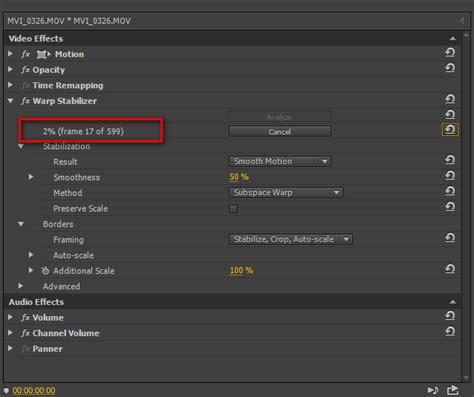 adobe premiere cs6 warp stabilizer стабилизация видео warp stabilizer в adobe premiere pro