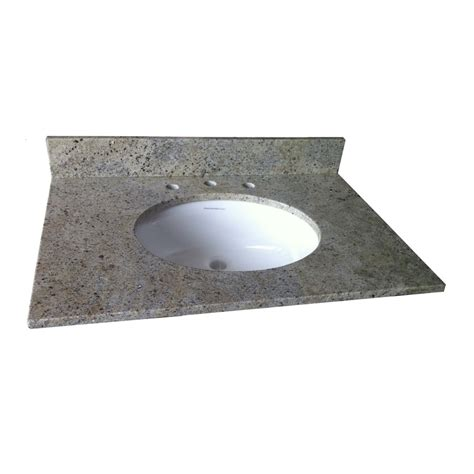 lowes granite bathroom vanity top shop allen roth kashmir white granite undermount single