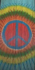 Peace Sign Beaded Curtains Bamboo Beaded Door Curtain Peace Symbol Also Room Divider