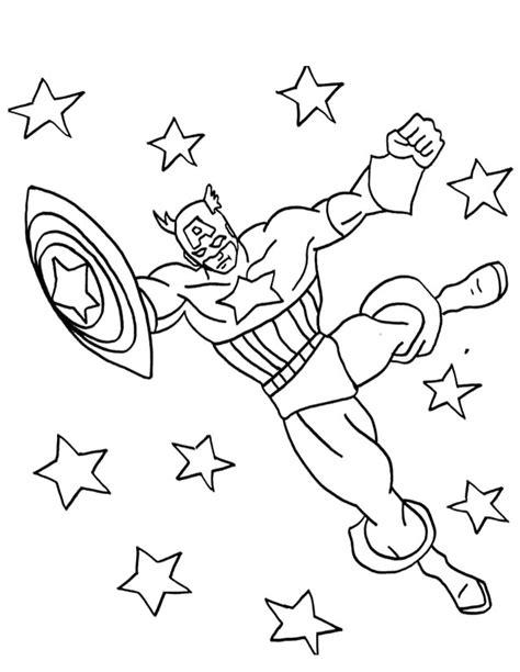 Capitan Estenlis coloriage 195 dessiner capitaine america imprimer
