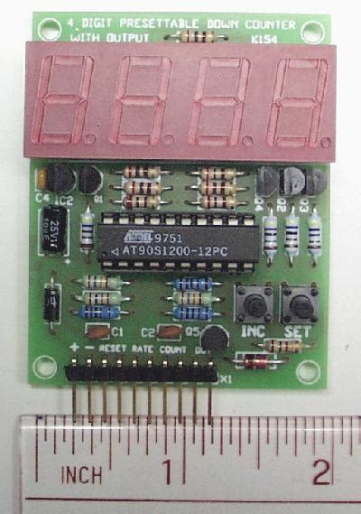 Counter 4 Digit 4 digit presettable counter available at electronic kits robot kits more