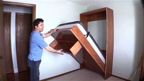 How To Build A Murphy Bed In A Closet by How I Built Wall Bed Quickly And Easily With Easy Diy