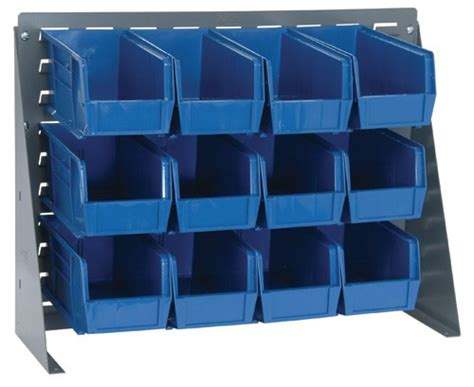 louvered bench rack plastic bin system qbr 2721 230 12