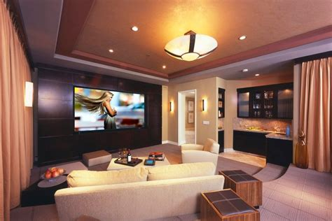 Home Theater Design Ta | home theater as addition to large modern interior small