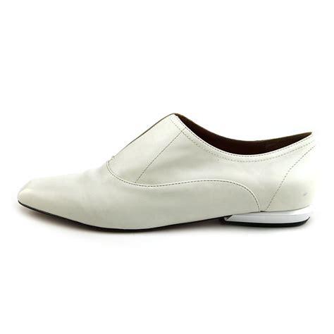 calvin klein reggie womens size 8 white leather oxfords