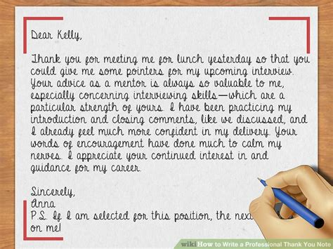 how to write a professional thank you letter how to write a professional thank you note with sle notes