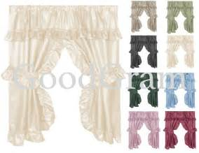 dobby swag bathroom window curtain set