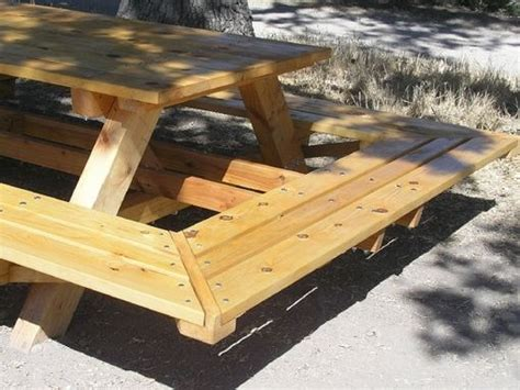 hand crafted custom  large  bolt picnic tables