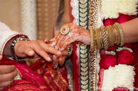 Wedding Ceremony Exchange Of Rings by Bridgewater New Jersey Indian Wedding By Memories
