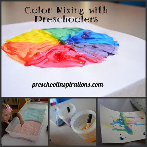 color mixing with preschoolers preschool inspirations