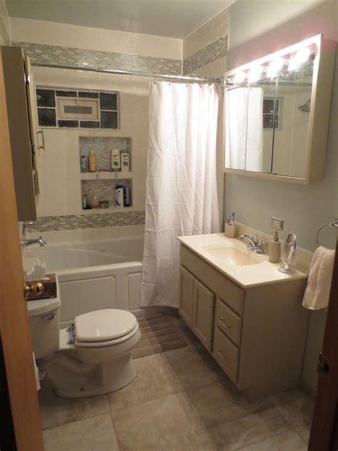 Redo Bathroom Ideas Small Bathroom Redo Traditional Bathroom Chicago By Renewed Living Interiors