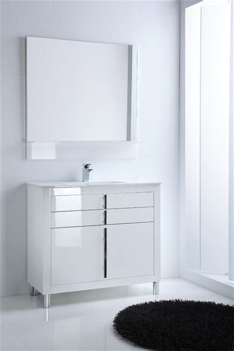 How High Are Bathroom Vanities by Roma Bathroom Vanity 40 Quot White High Gloss Lacquered