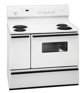 40 inch electric range new frigidaire white 40 quot freestanding 40 inch electric