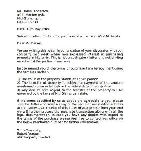 Commercial Lease Letter Of Intent Sle letter of intent to lease commercial property pdf 28