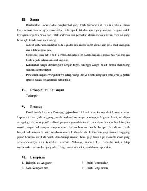 cara membuat rumusan masalah pada laporan contoh laporan pertanggungjawaban kegiatan kerja bakti