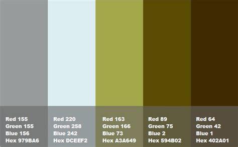 Colore Verde Muschio by Composizione Grigio Azzurro Verde Muschio Marrone