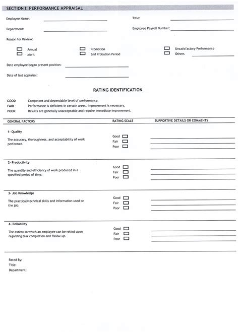 appraisals template free employee evaluation templates new calendar template
