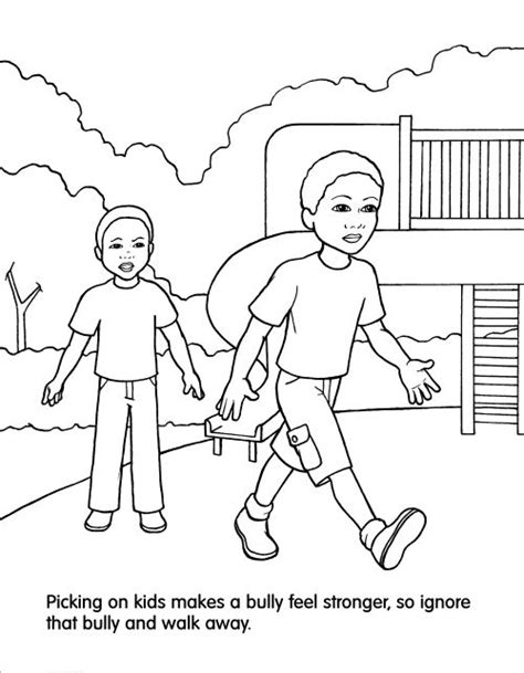 Stop Bullying Coloring Page Full Size Coloring Pages Bullying Coloring Pages