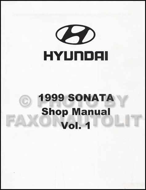motor auto repair manual 1993 hyundai sonata transmission control 1999 hyundai sonata shop manual volume 1 only engine transmission brakes repair ebay