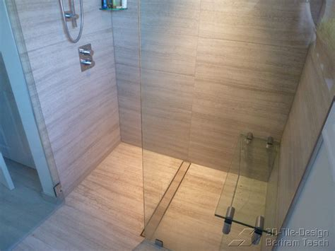 Shower Tile Designs For Small Bathrooms barrier free curbless rain shower coquittlam