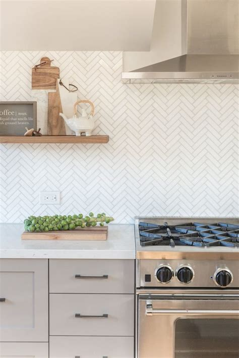 marble herringbone backsplash best 15 kitchen backsplash tile ideas diy design decor
