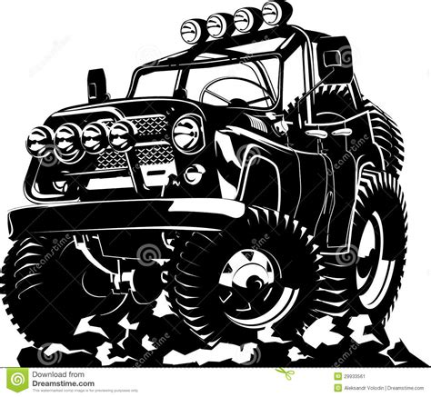 cartoon jeep front cartoon jeep stock vector image of jump driving contour