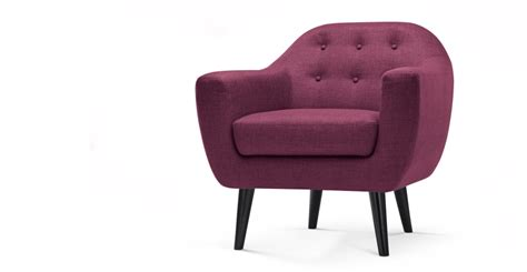 armchair purple armchair in plum purple ritchie made com
