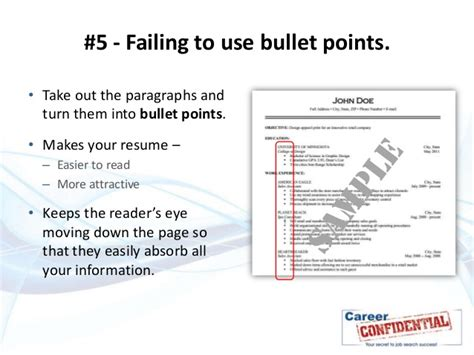 Resume Bullet Points Or Paragraphs 10 deadly resume mistakes to avoid at all costs