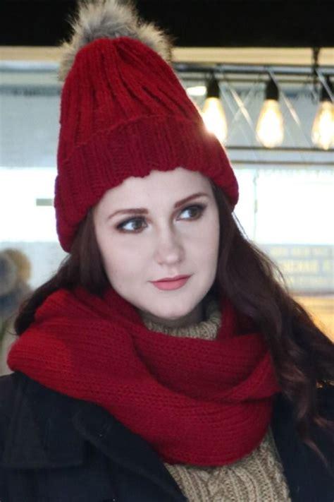 topi rajut syal rajut maroon topi syal winter