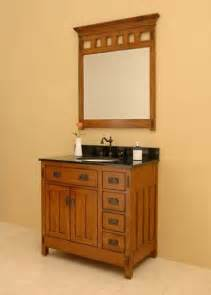 craftsman inspired bath vanity craftsman style