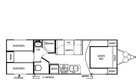 bunkhouse trailer floor plans wildwood floor plans rv travel trailer and fifth wheel news
