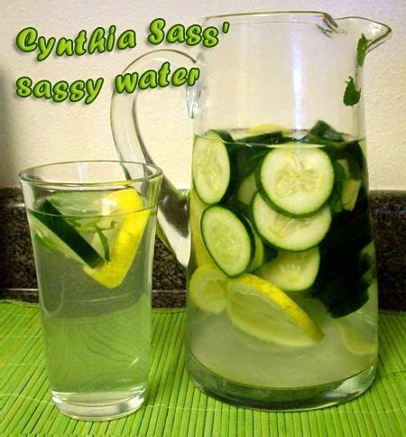 Sassy Water Detox Diet Recipe by Cynthia Sass Sassy Water Recipe Tasty Diet Water
