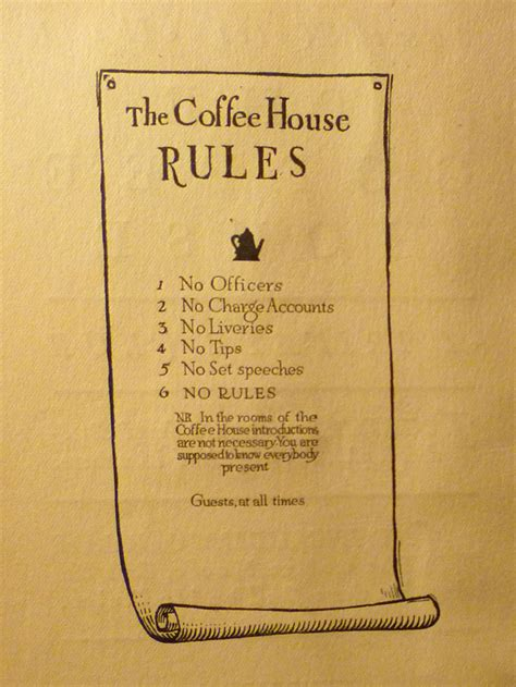 House Plan Guys by Rules And Orders Of The Coffee House