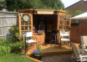 transform your storage shed into your own bar