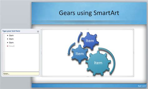 powerpoint gears template how to create gears in powerpoint using smartart