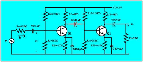 capacitor coupled lifier rc coupled lifier