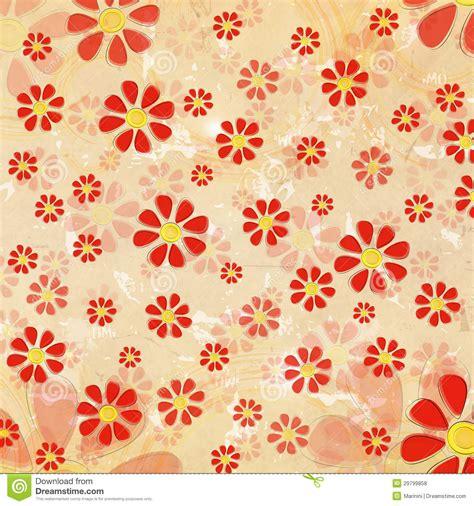 imagenes vintage rojas flores rojas del vintage sobre viejo fondo de papel fotos