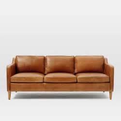 sofa leder hamilton leather sofa 81 quot west elm