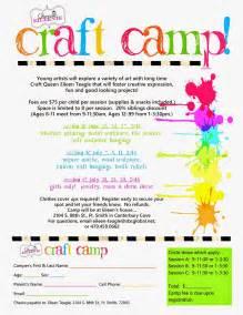 queenie eileenie announcing summer craft camp and artie