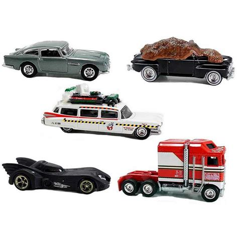 Hotwheels 1 64 Retro Back To The Future Time Machine Hover Mode 1 wheels retro 2015 ecto 1a thunder roller 007 aston