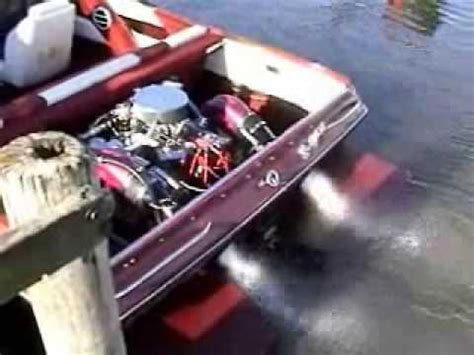 v8 fan boat 632 chevy big block boat engine startup youtube