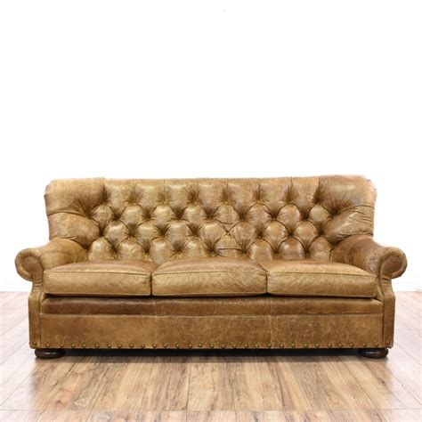 tufted distressed leather sofa distressed brown leather tufted sofa loveseat