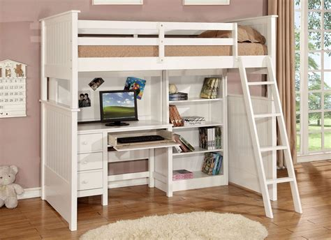 white loft bed with desk house loft bed with desk and storage