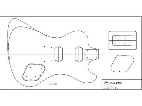 bass guitar template telecaster template images